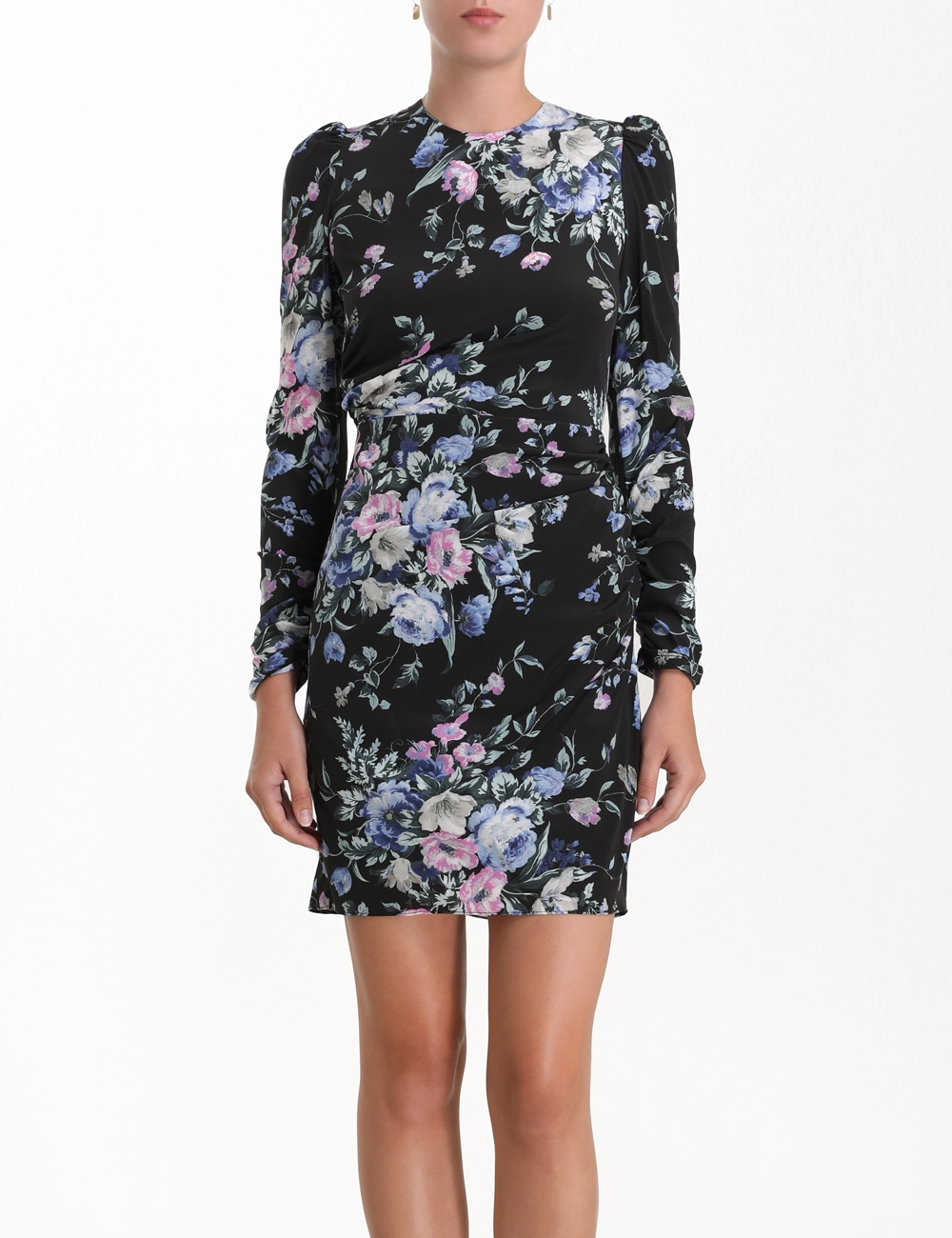 Moncur Drape Short Dress