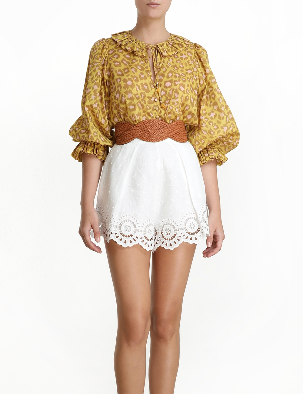 Carnaby Ruffle Neck Top