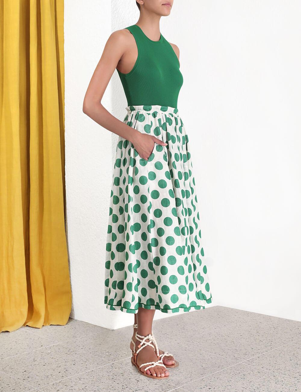 Amari Draw Flare Skirt