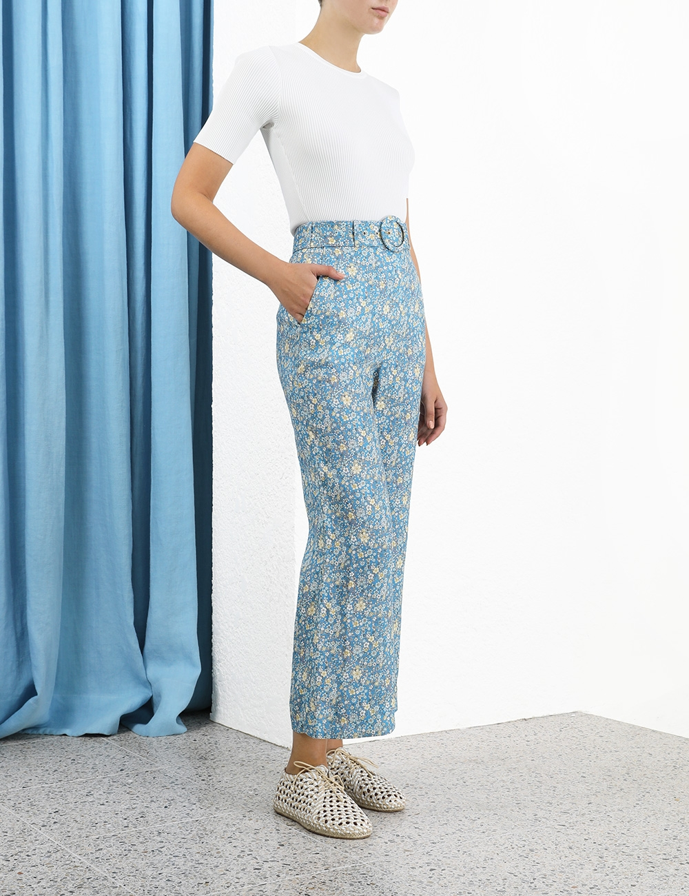 Carnaby Belted Crop Flare