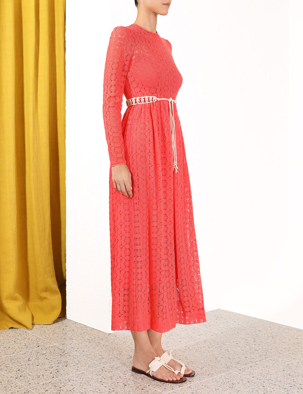Allia High Neck Lace Dress