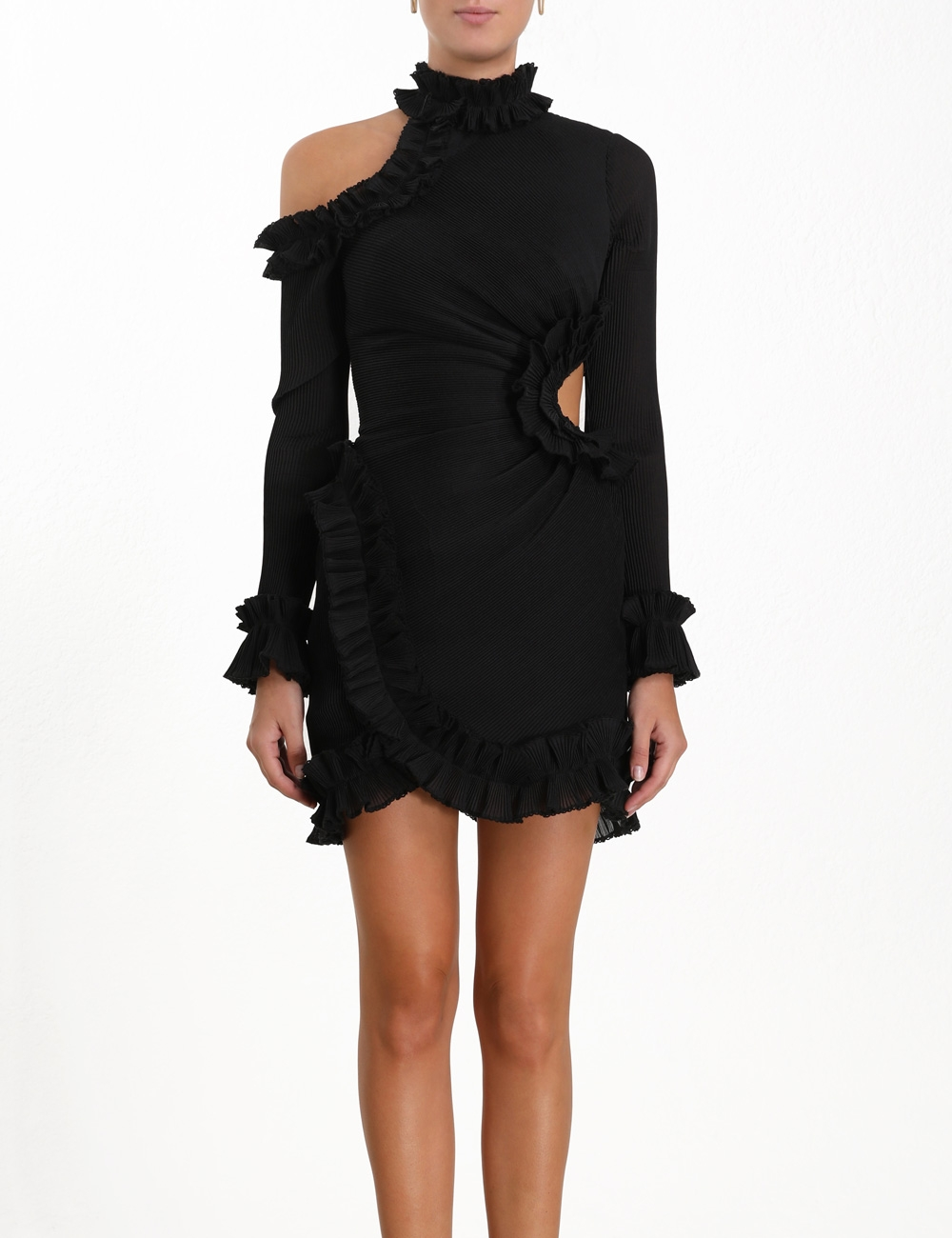Moncur Asymmetric Mini Dress