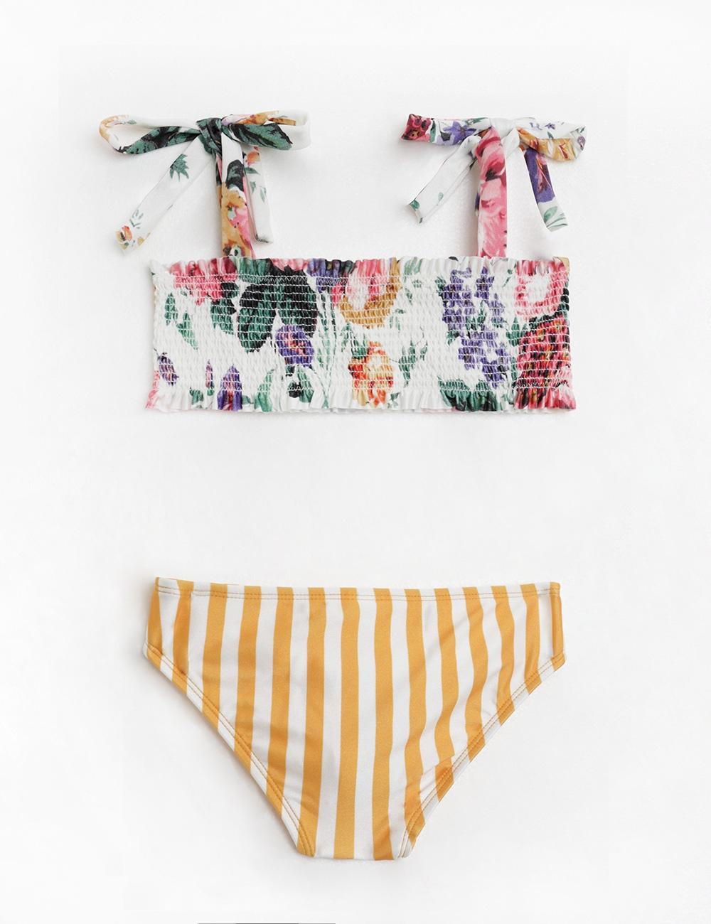 Allia Shirred Bandeau Bikini
