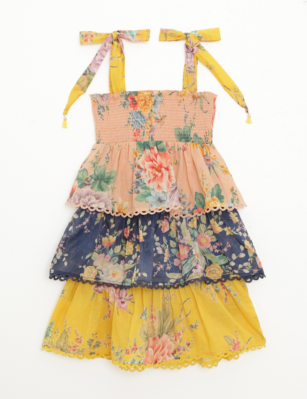 Zinnia Shirred Tiered Dress