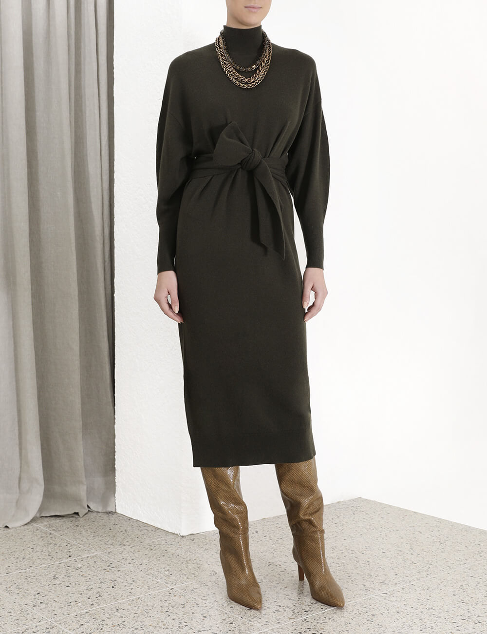 Sabotage Tie Knit Dress