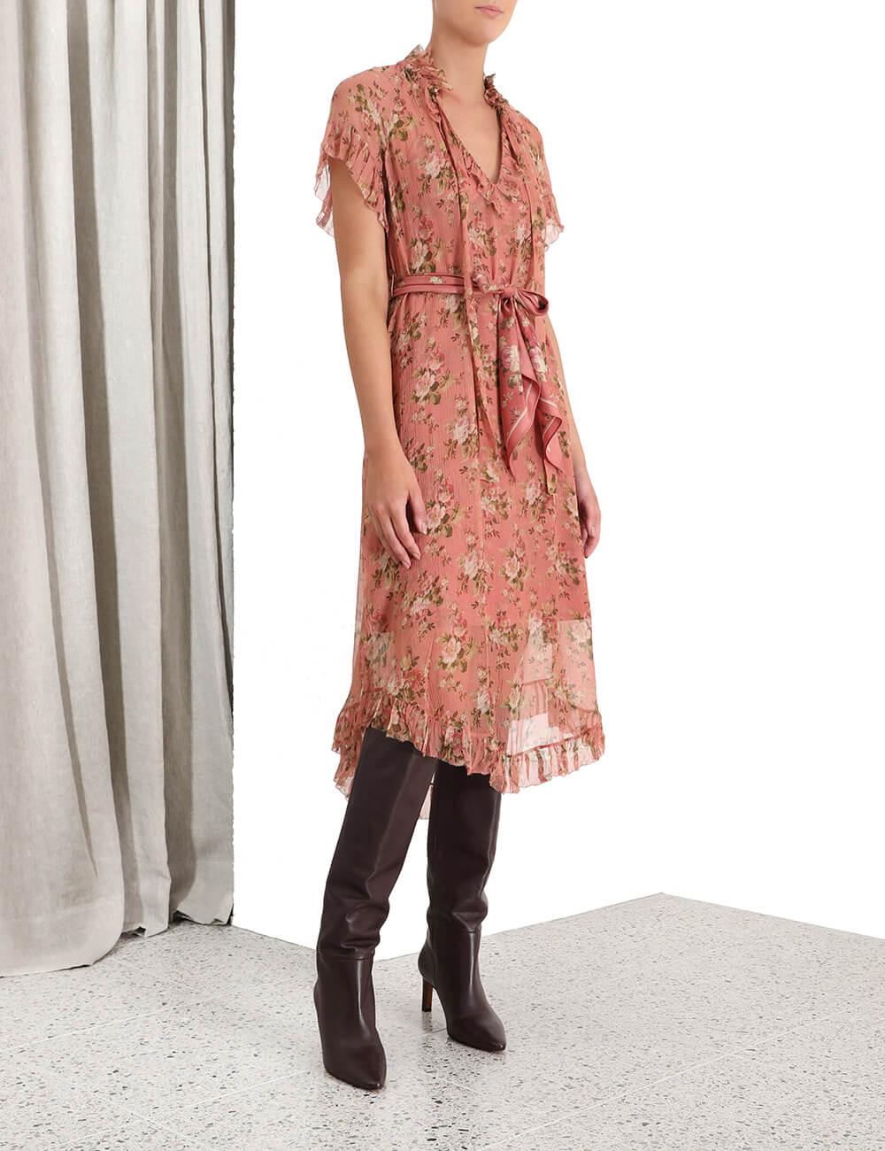 Espionage Frilled Dress