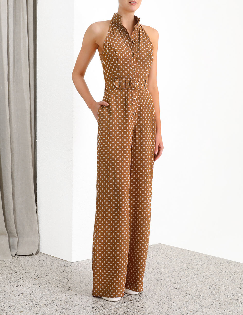 Espionage Silk Jumpsuit