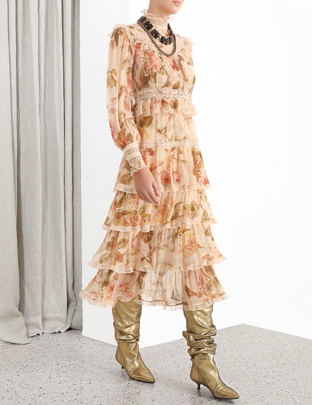 Resistance Lace Panel Dress