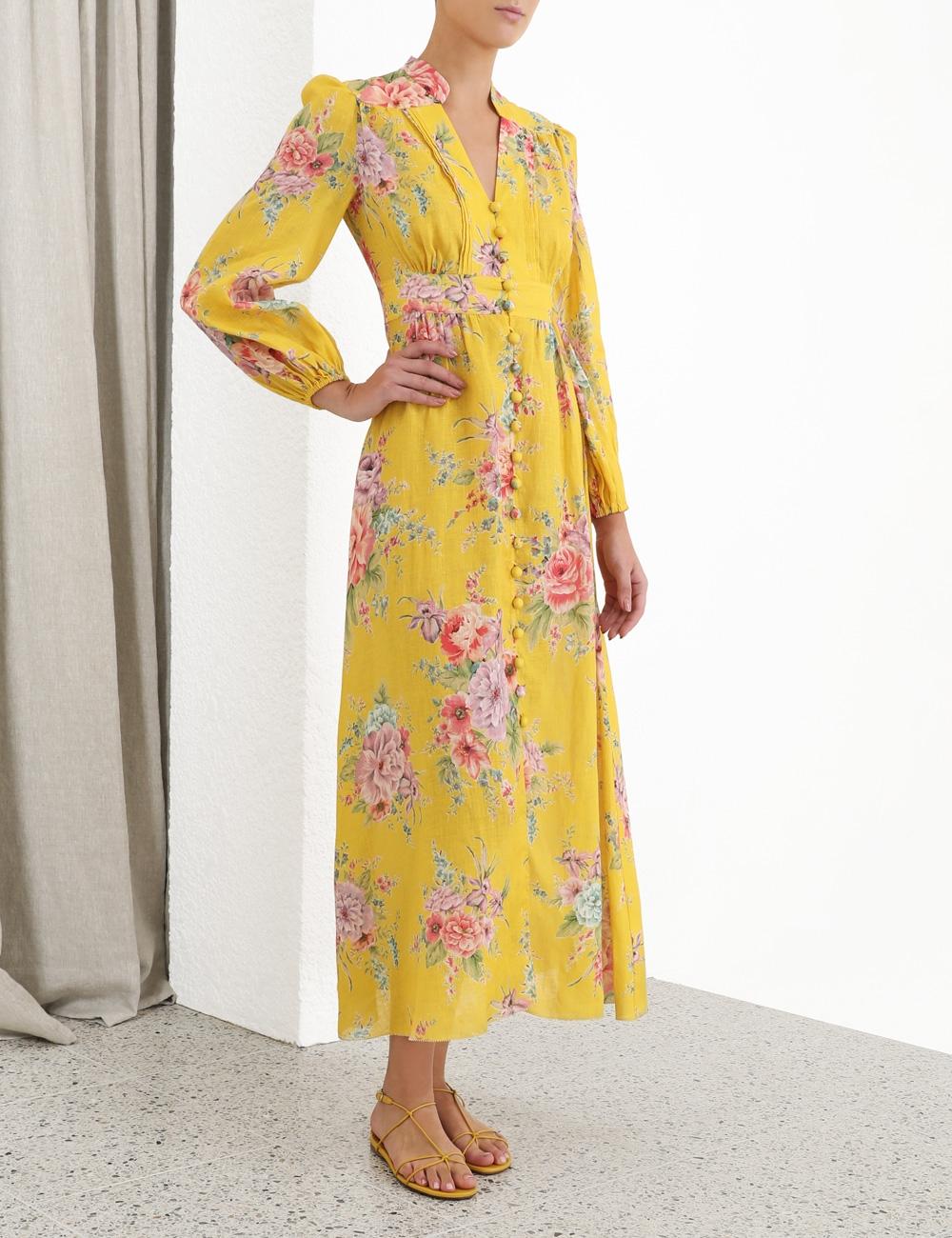 Zinnia Button Down Long Dress