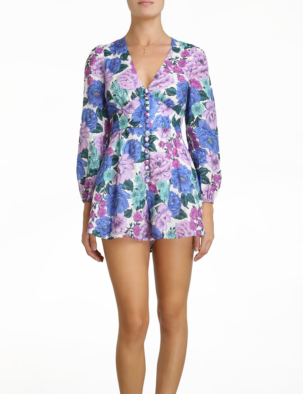 Poppy Plunge Playsuit