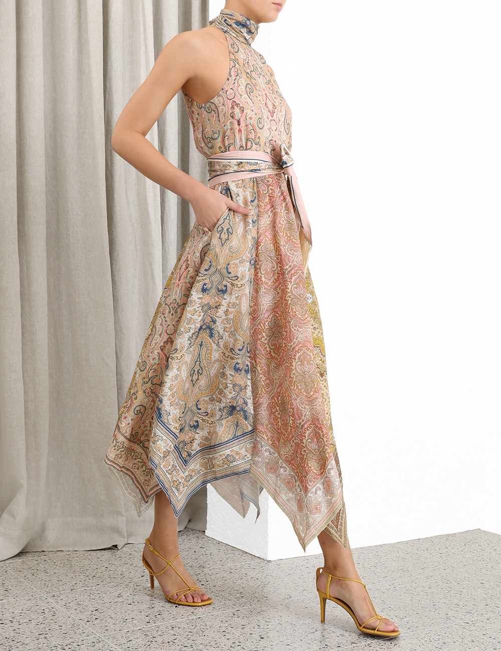 Freja Hanky Hem Long Dress