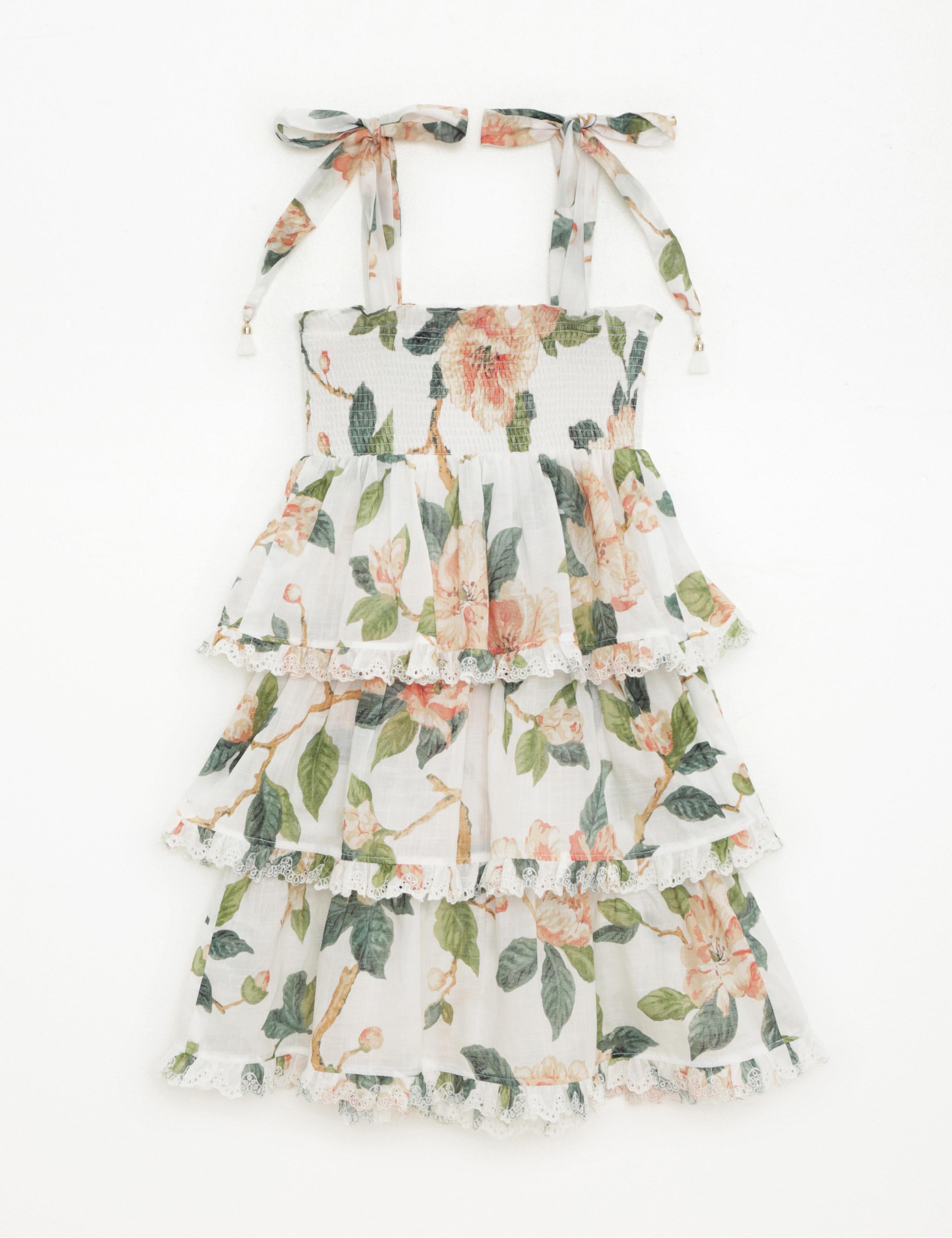 Kirra Shirred Tiered Dress