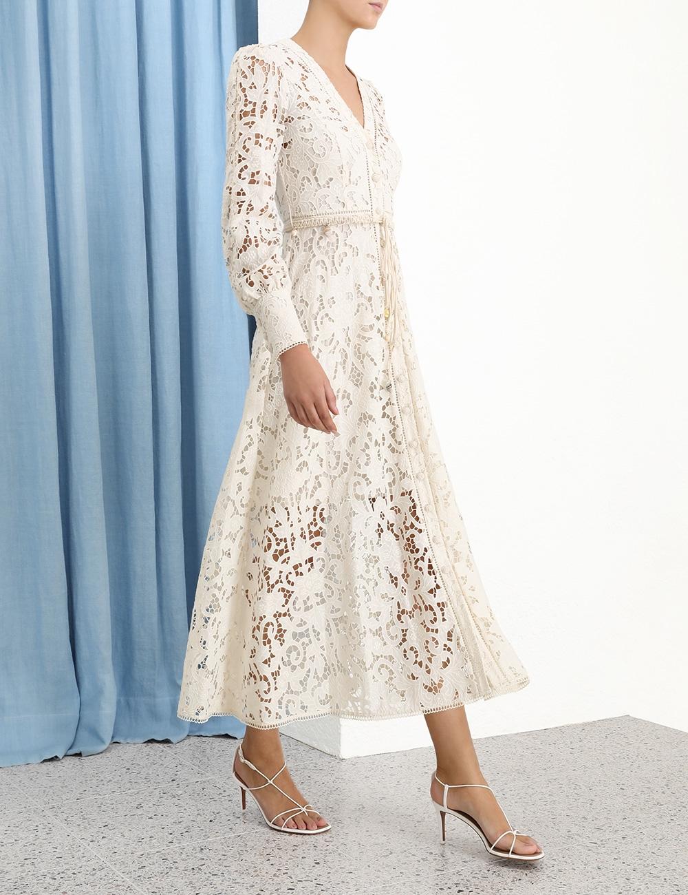 Freja Broderie Button Up Dress