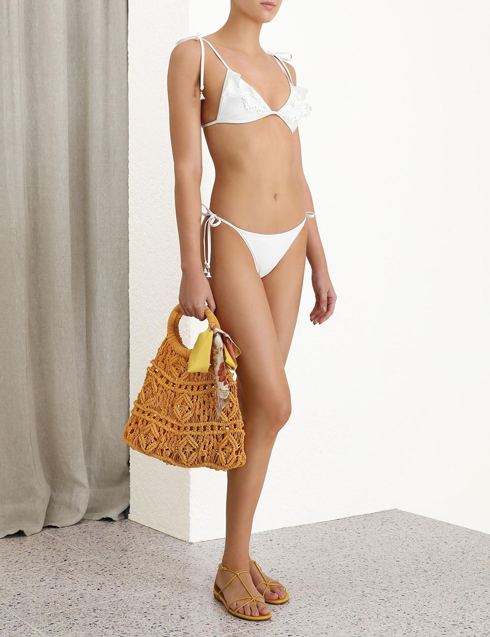 Kirra Laser Cut Frill Bikini
