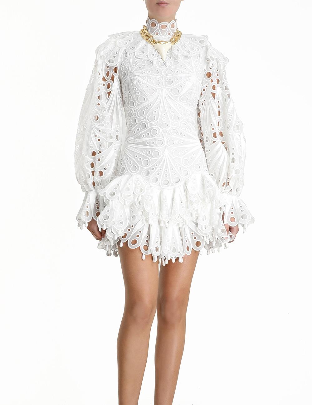Glassy Bubble Mini Dress