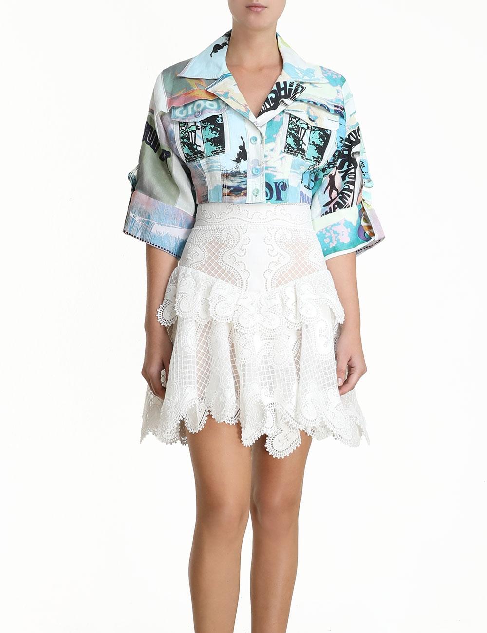 Glassy Wave Flip Skirt