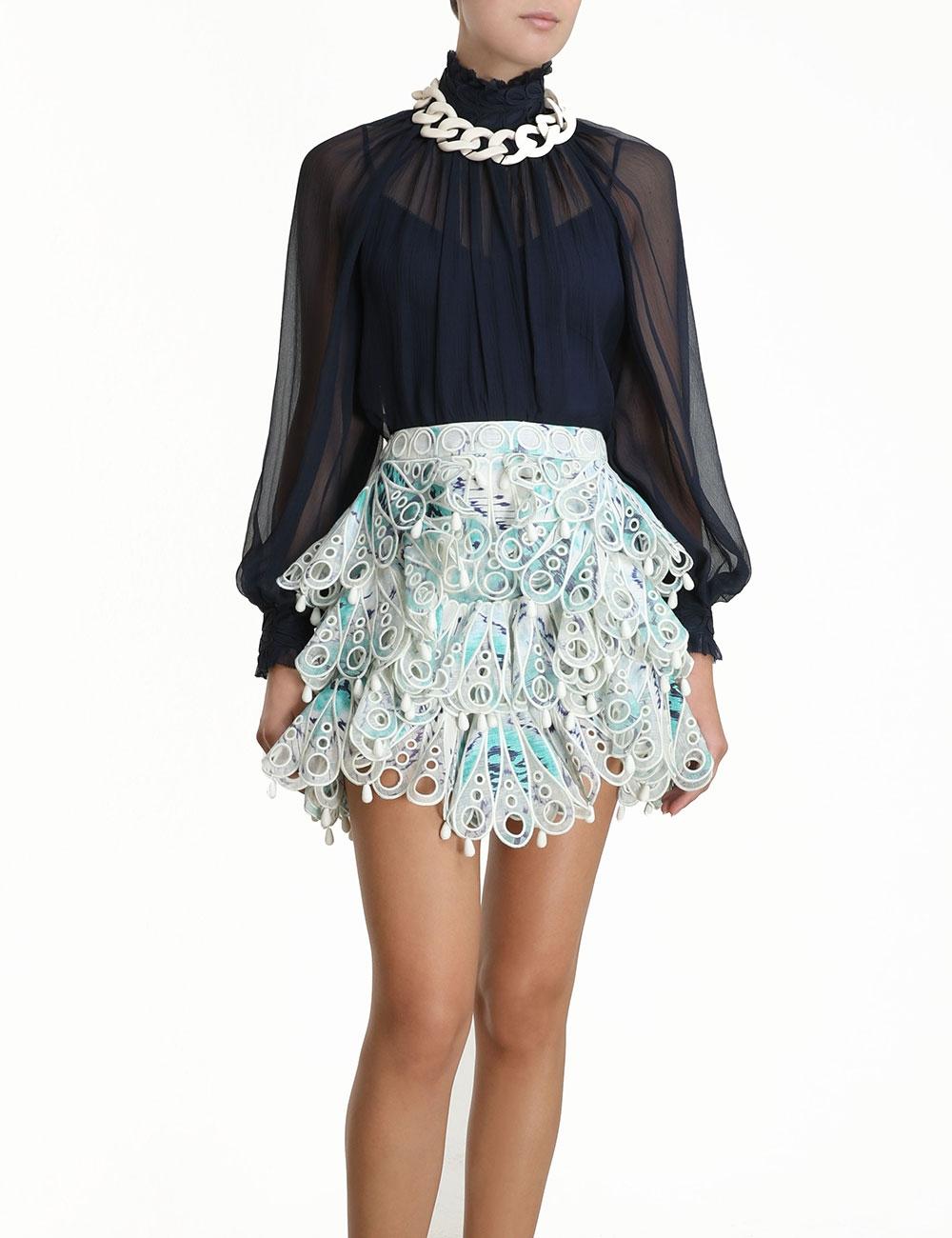 Glassy Bubble Flip Skirt