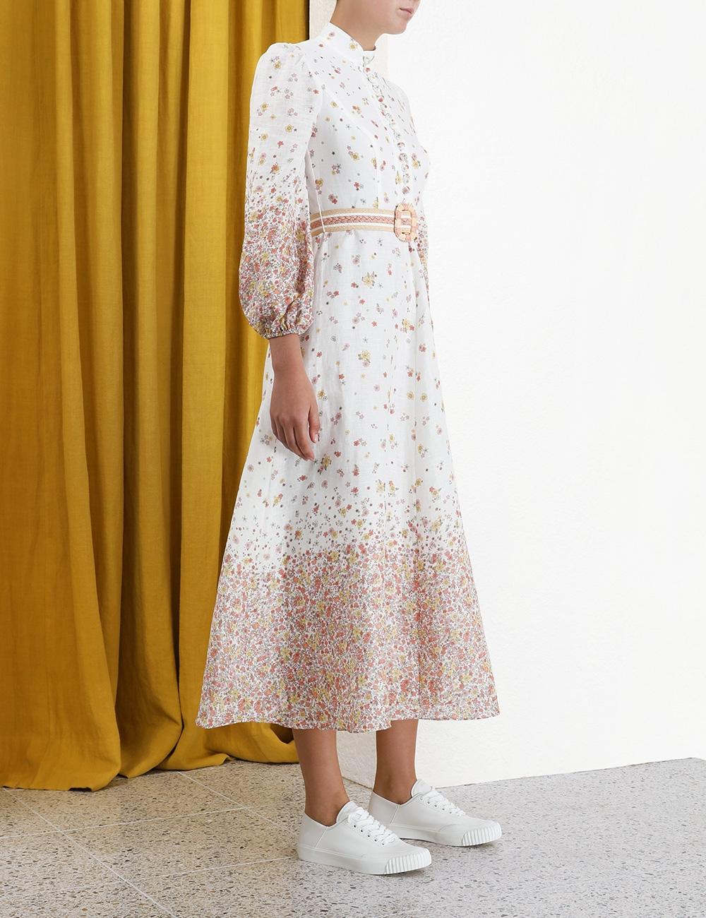 Carnaby Ditsy Long Dress