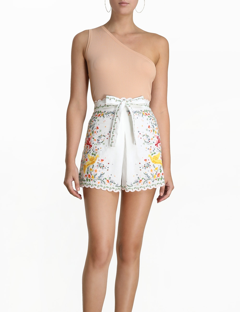 Carnaby Embroidered Bird Short