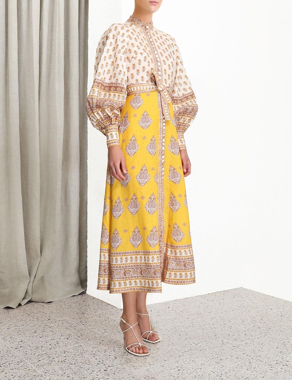 Bonita Buttoned Long Dress