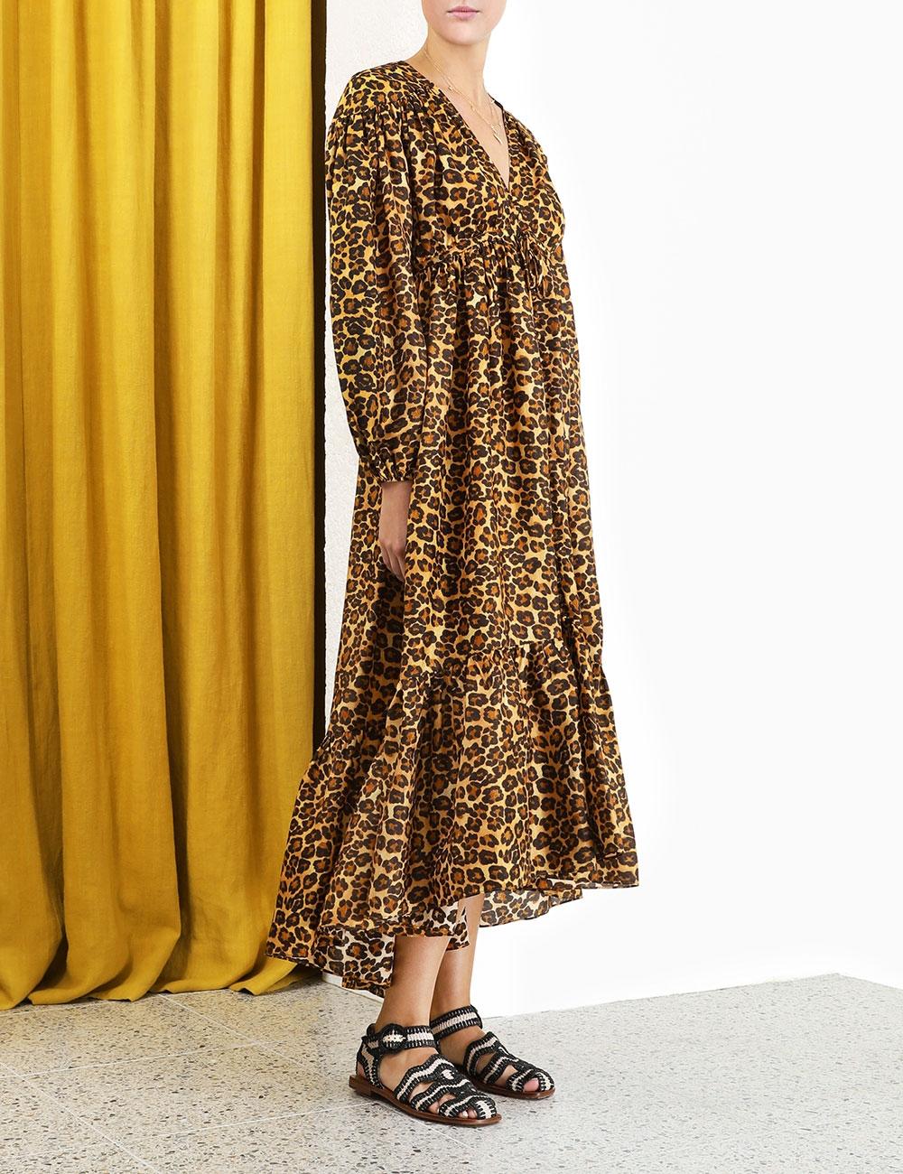 Amelie Draw Long Dress