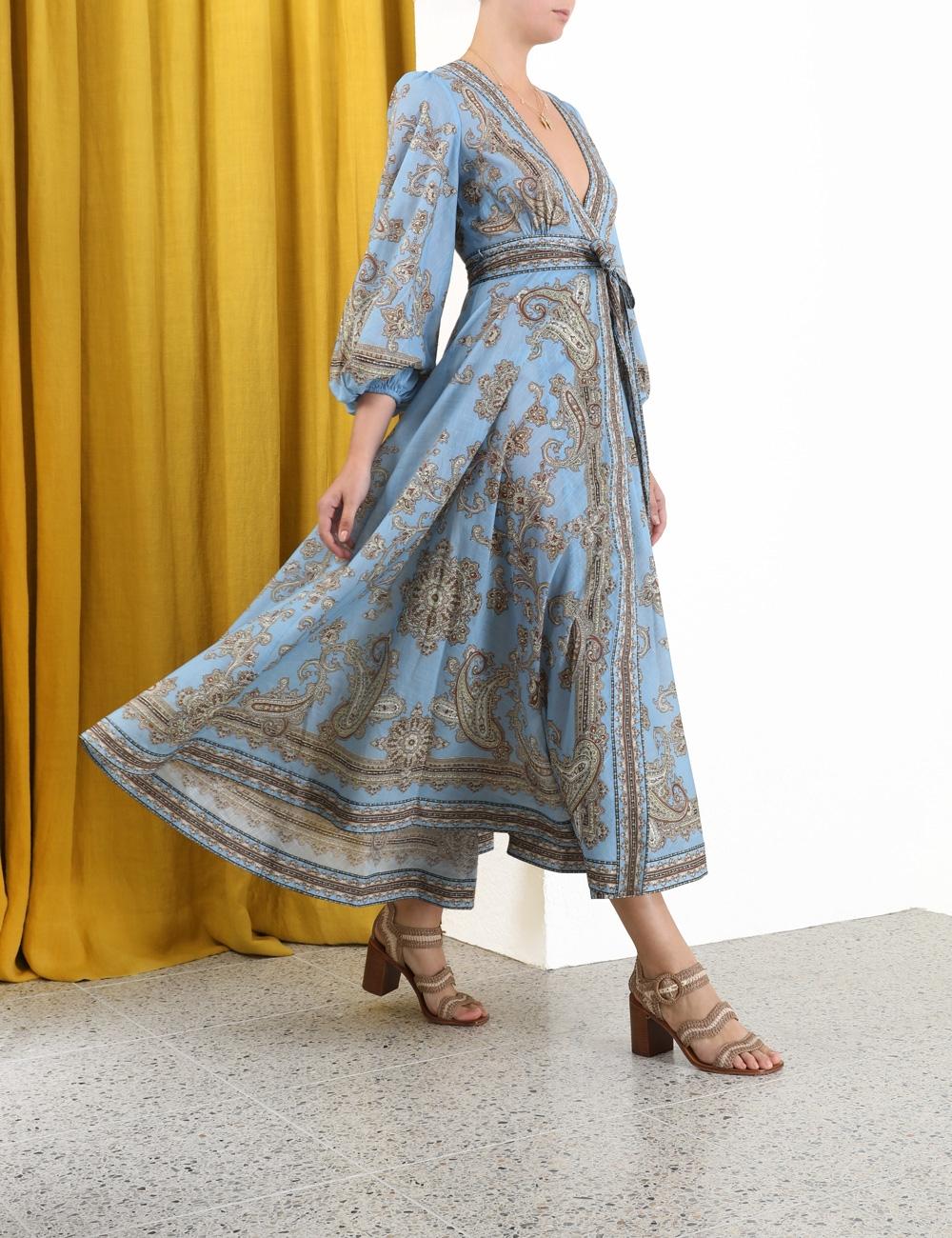 Fiesta Wrap Long Dress