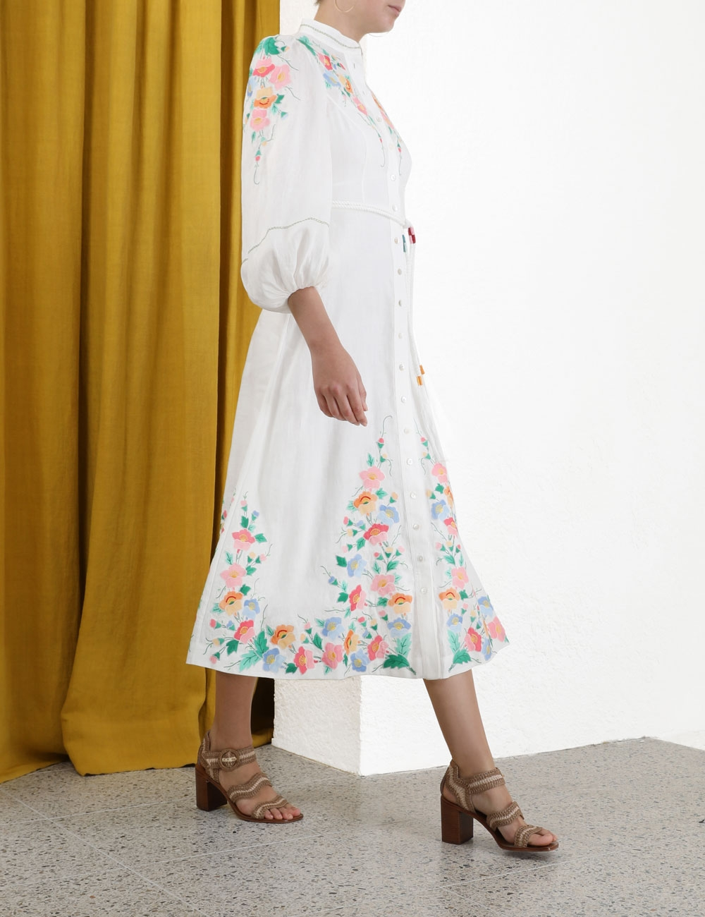 Fiesta Applique Long Dress