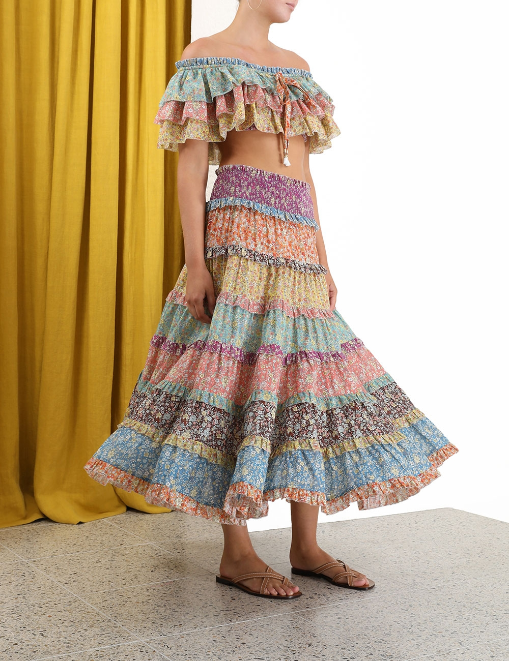 Carnaby Tiered Midi Skirt