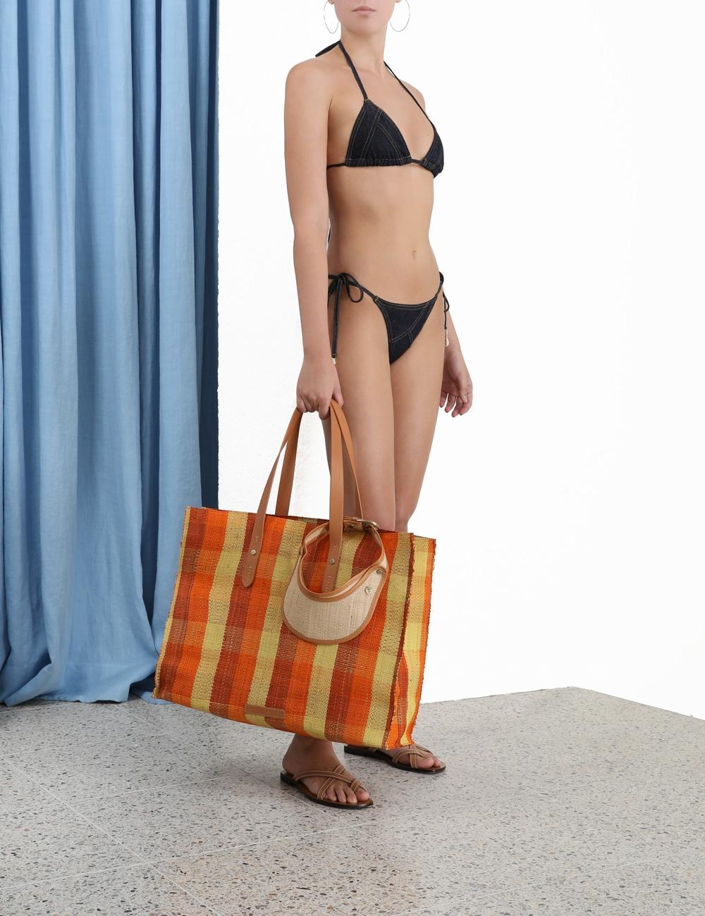 Empire Denim Patchwork Bikini