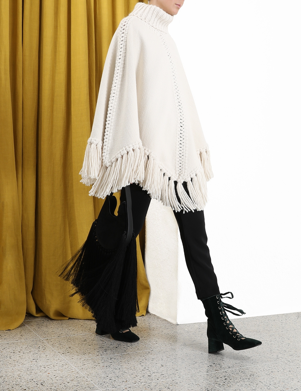 Ladybeetle Woven Poncho