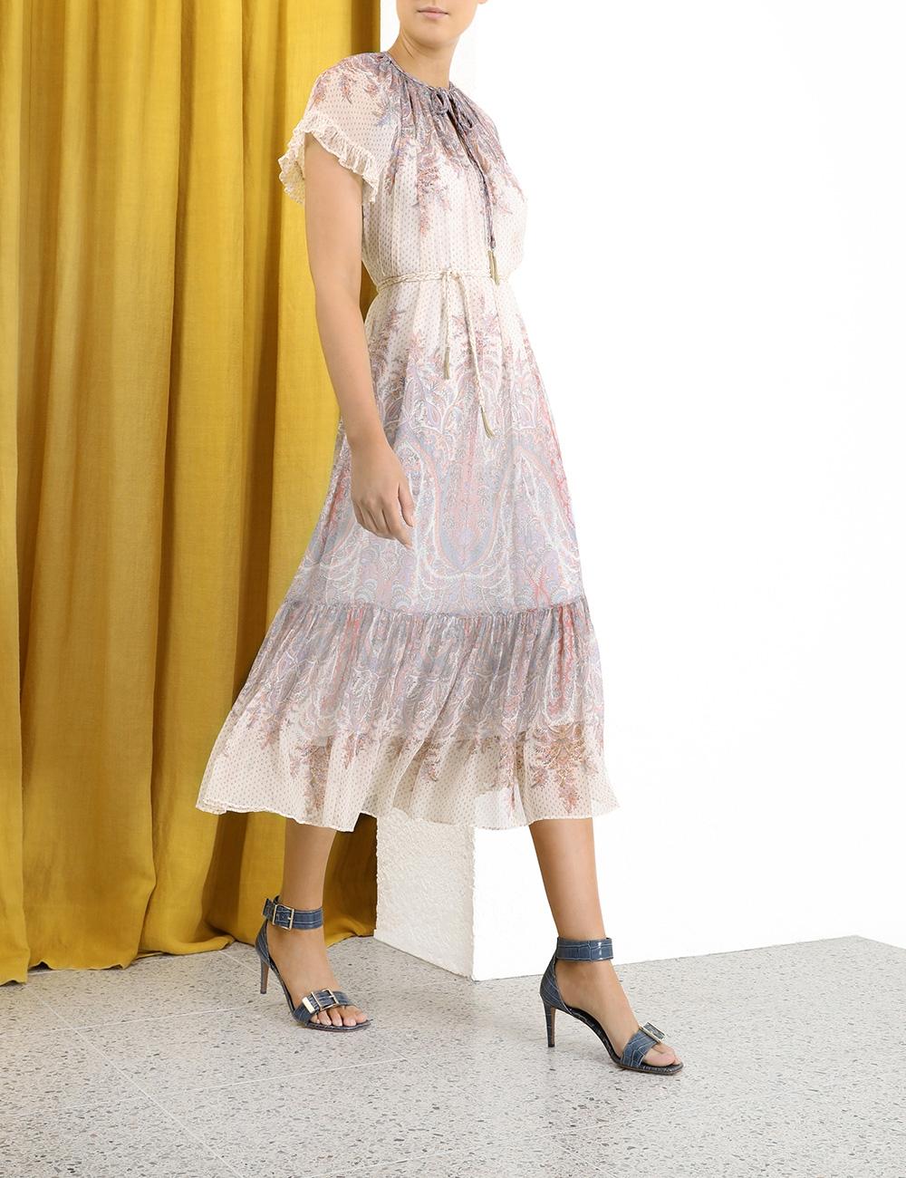 Lucky Flutter Braid Midi Dress