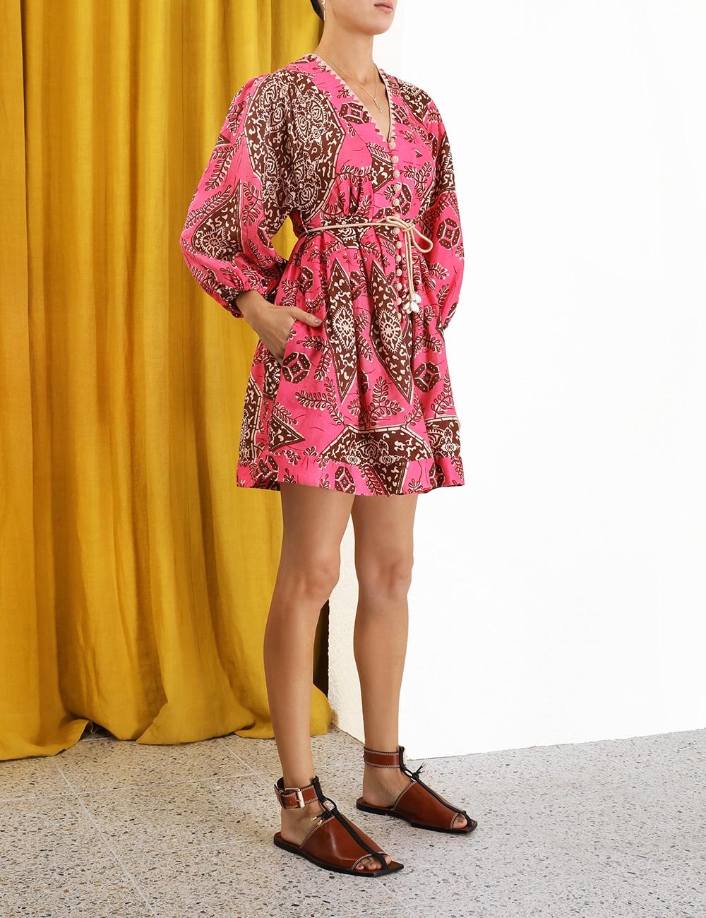 Lulu Plunge Mini Dress