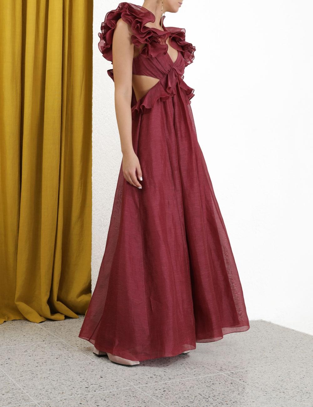 Ladybeetle Ruffle Gown