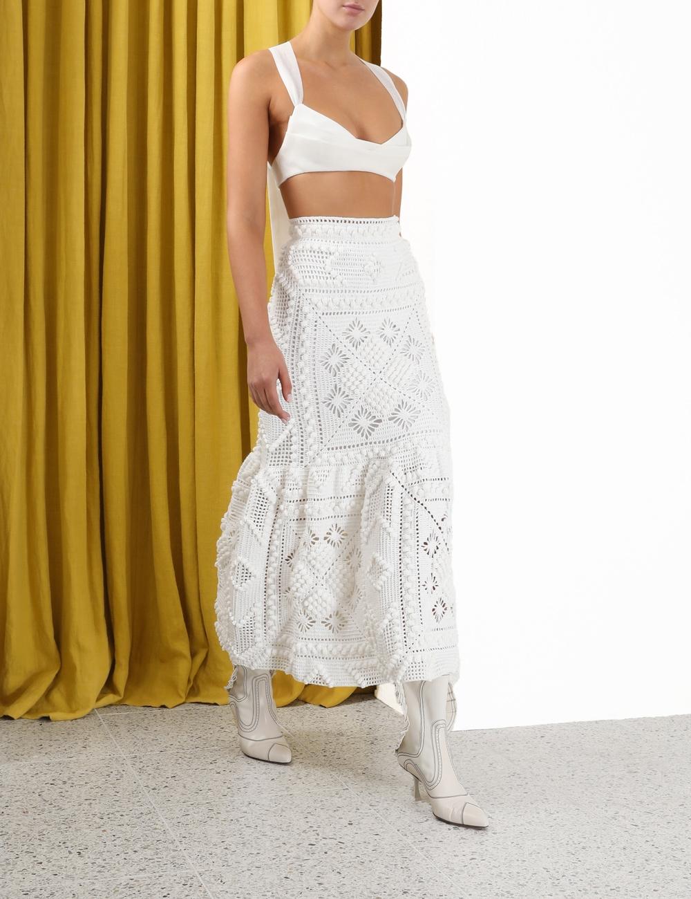 Candescent Hand Crochet Skirt