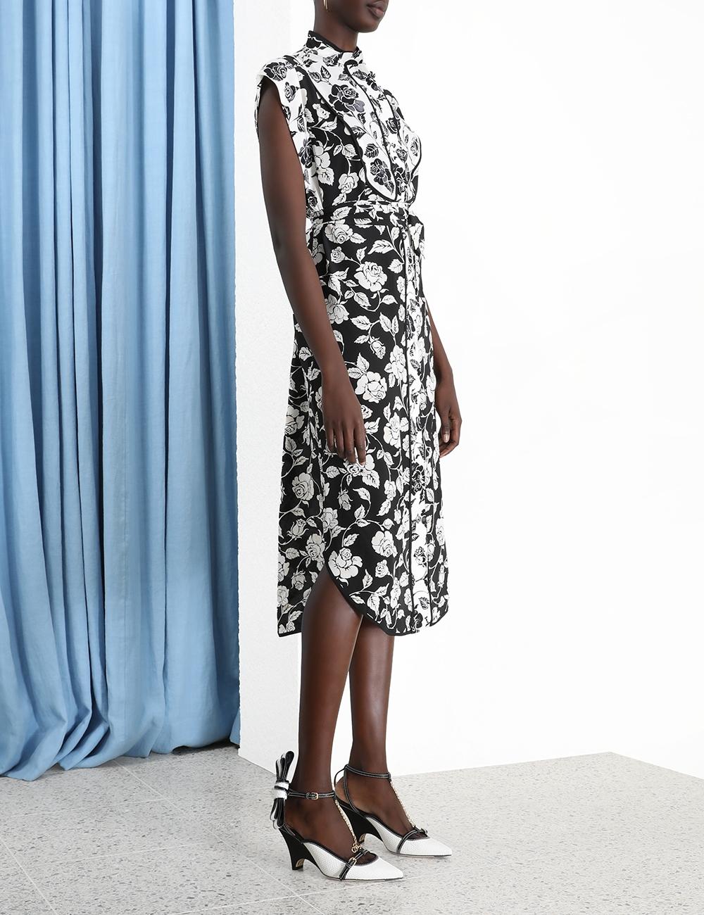 Silk Piped Dress