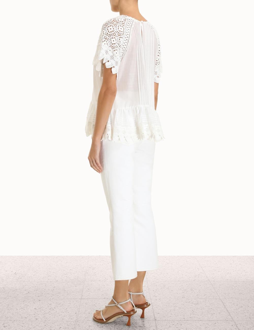 Aliane Crochet Shirt