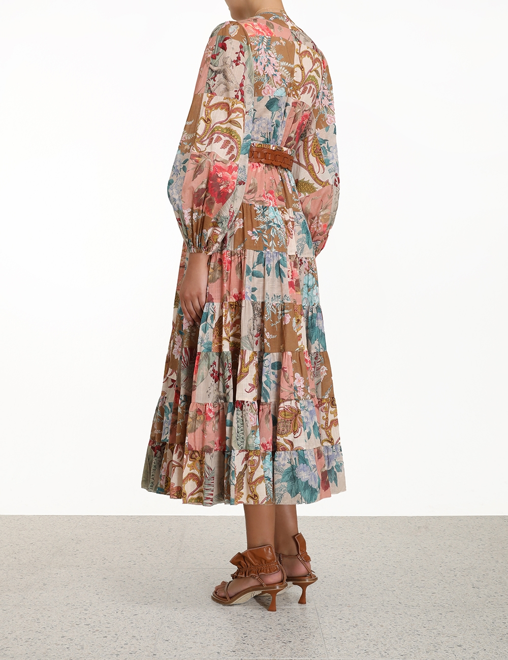 Cassia Patch Wrap Midi Dress