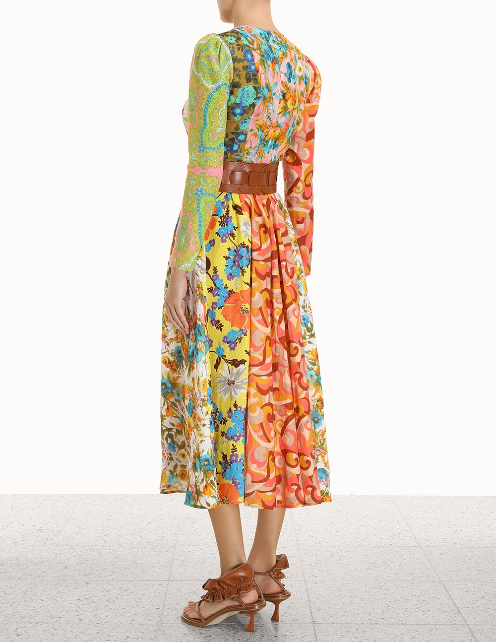 Estelle Spliced Midi Dress