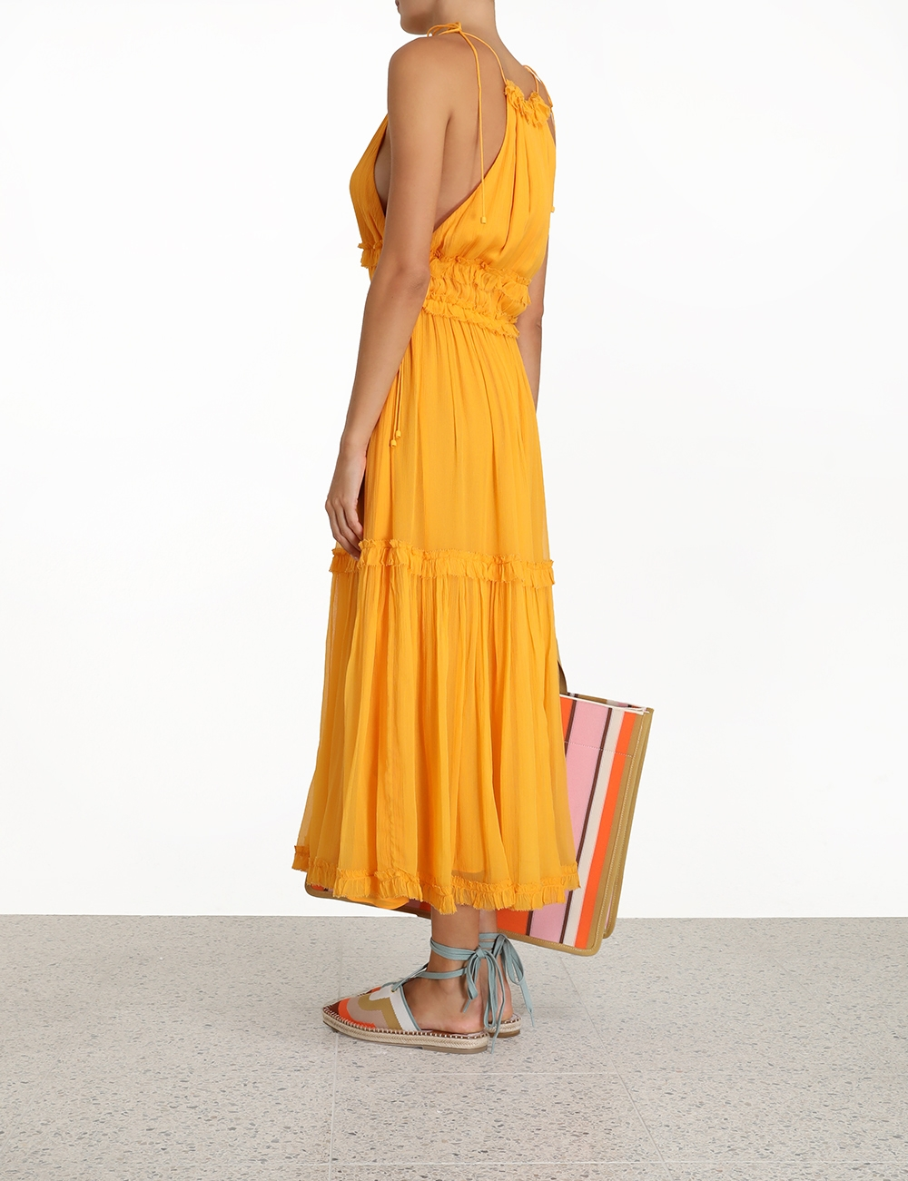 Mae Tiered Frill Long Dress
