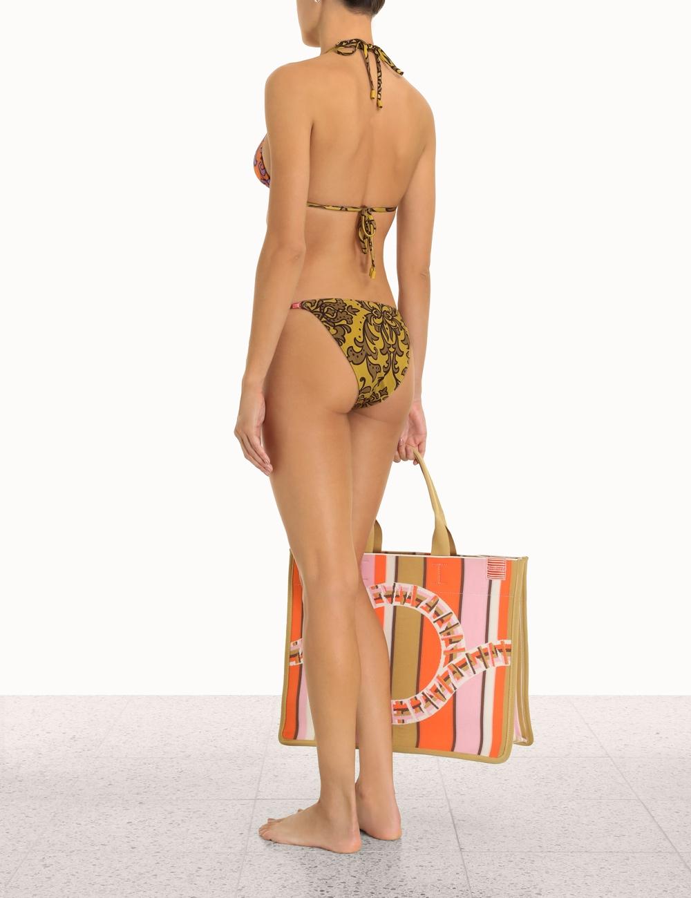 Nina Spliced Mini Tri Bikini