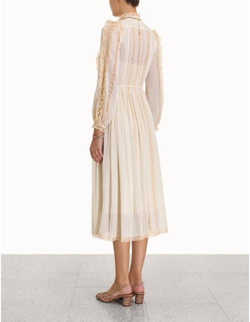 Concert Pintucked Midi Dress