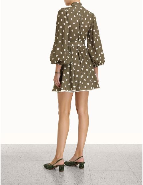 Spot Frill Mini Dress