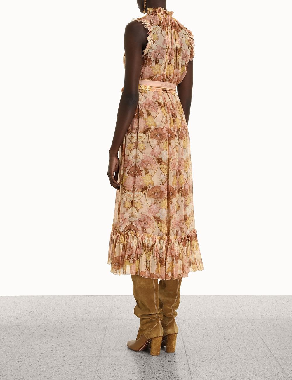 Tempo Flutter Midi Dress