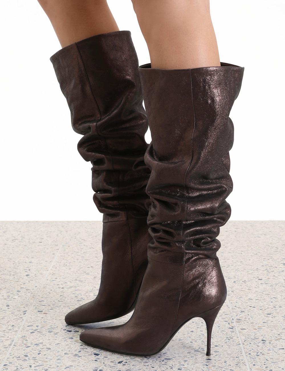 Tall Metallic Boot