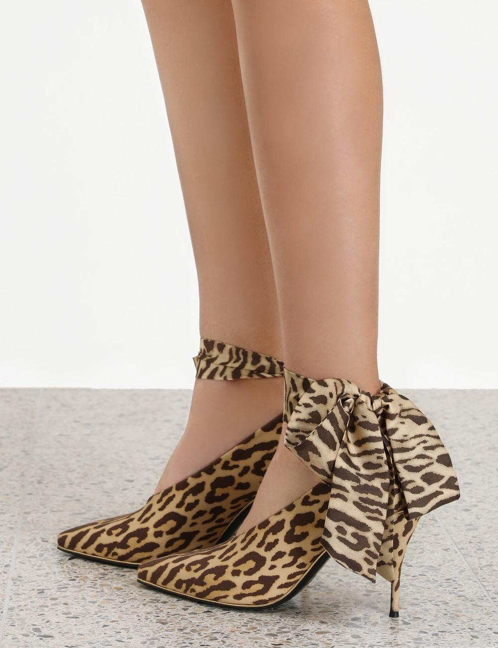 Ankle Tie Lycra Heel