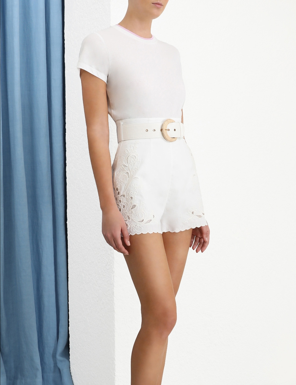 Peggy Embroidered Short