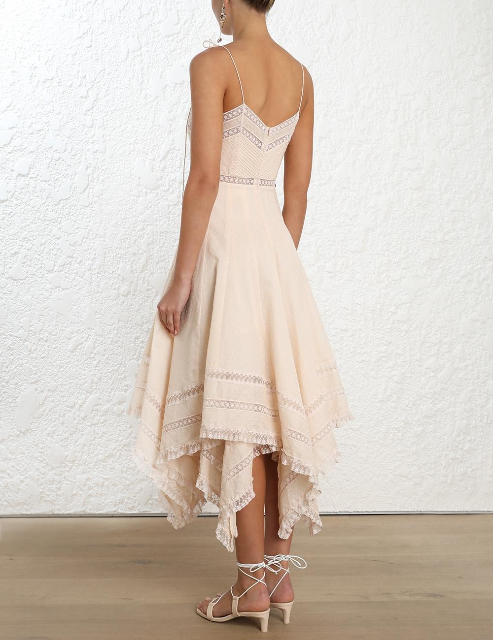 Bowie Pintuck Scarf Dress