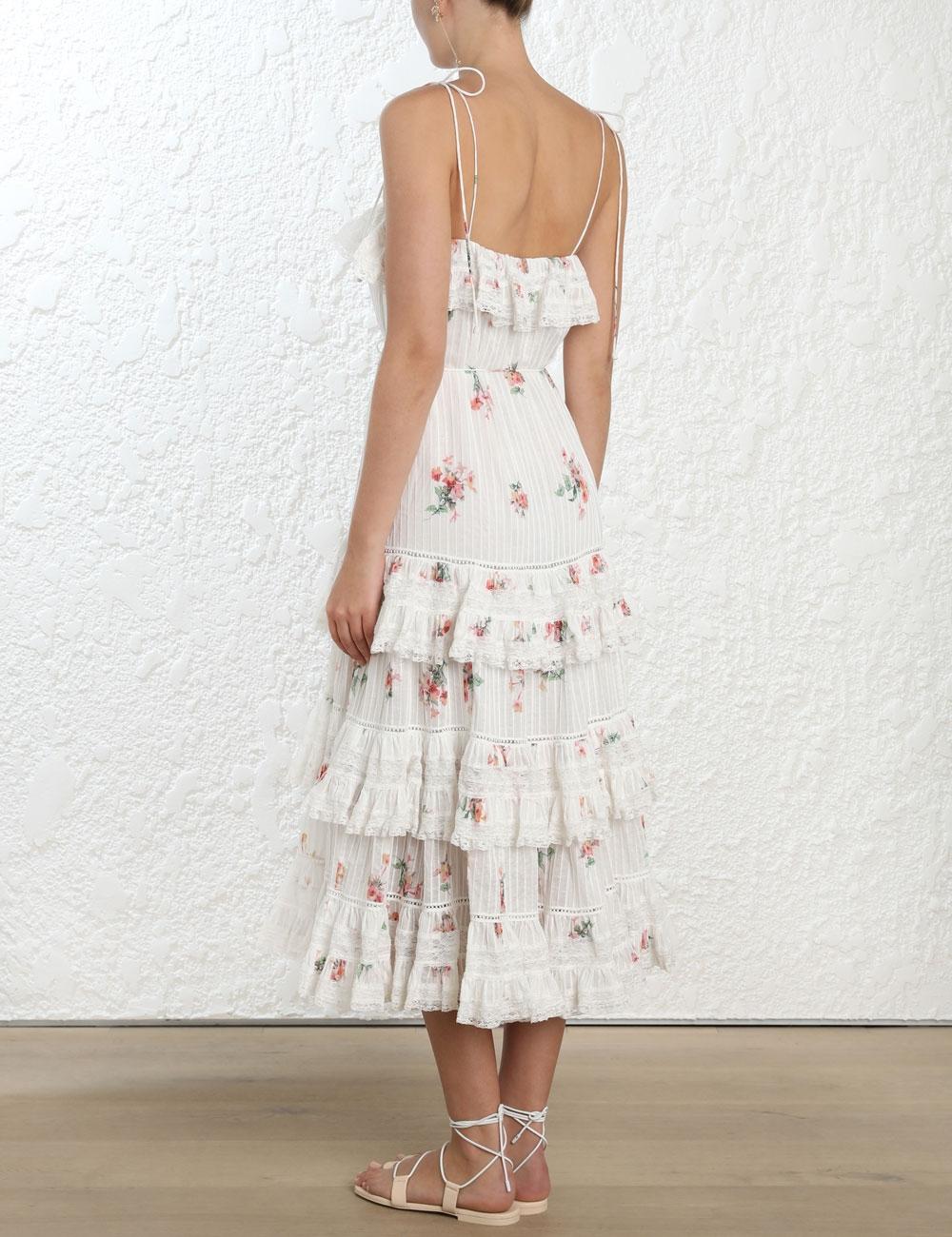 Heathers Pintuck Long Dress