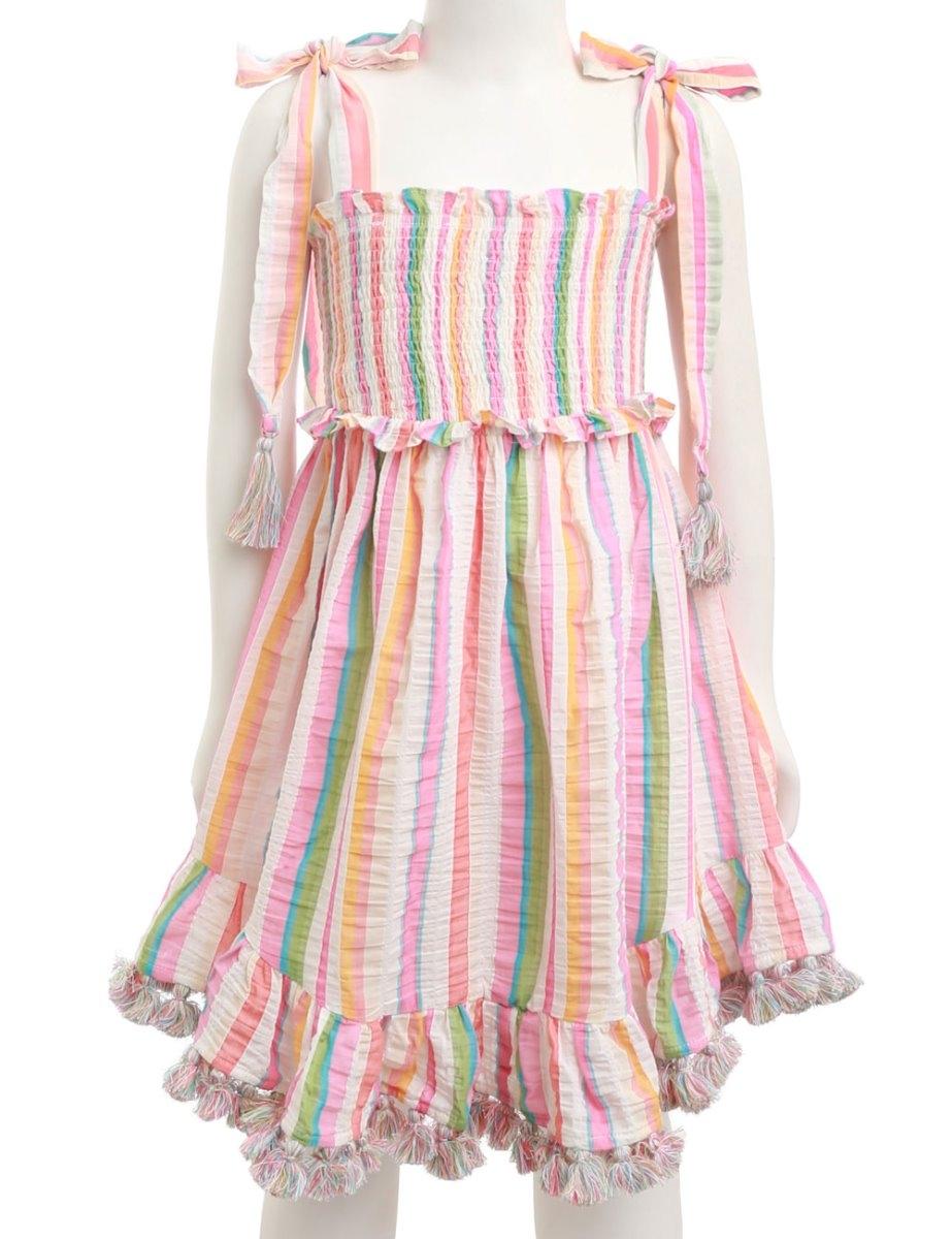 Heathers Shirred Short Dress