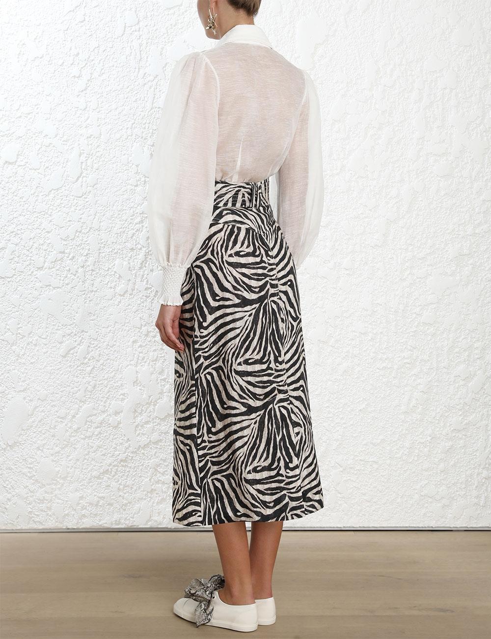Corsage Safari Skirt
